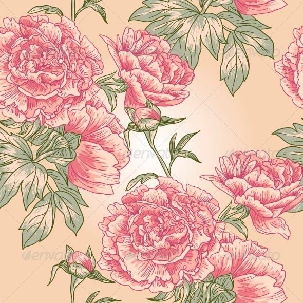 Elegance Seamless Peony Pattern