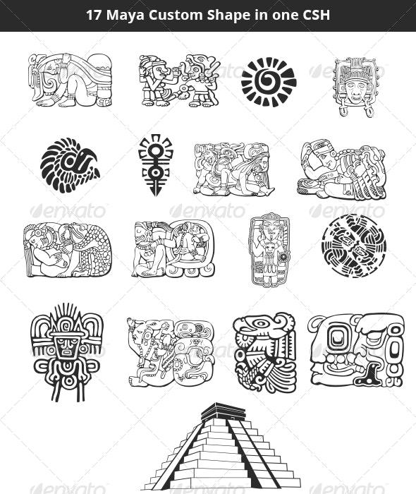 Maya Custom Shapes Set by cocolinooo | GraphicRiver