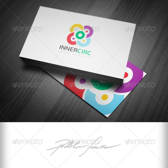 Marketing Team Building Logo - Group Colours Logo