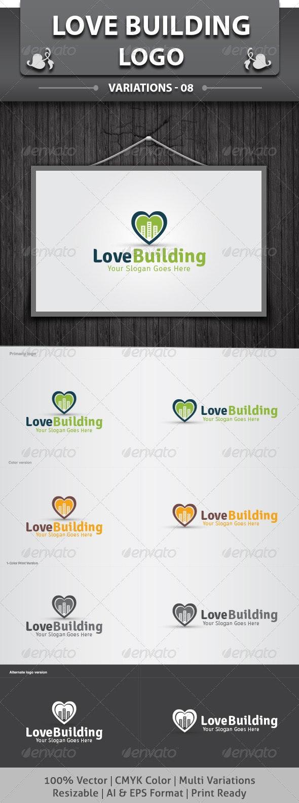 Love Building Logo - Objects Logo Templates
