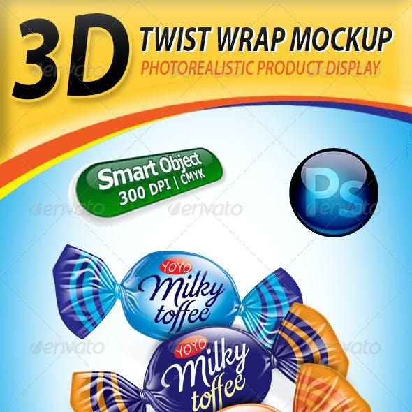 Twist Wrap Candy Mockup