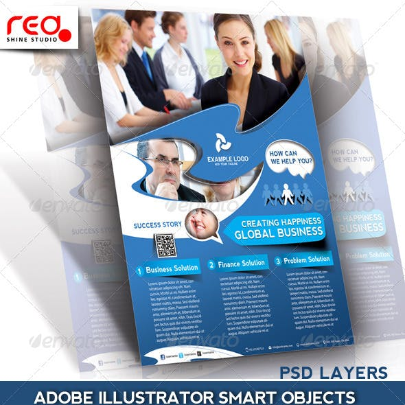 Business Promotion Flyer/Poster & Magazine Template
