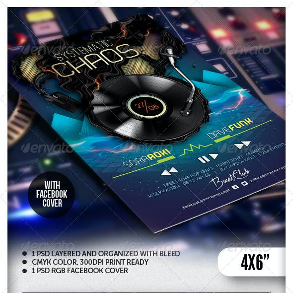 Systematic Chaos Nightclub Flyer Template