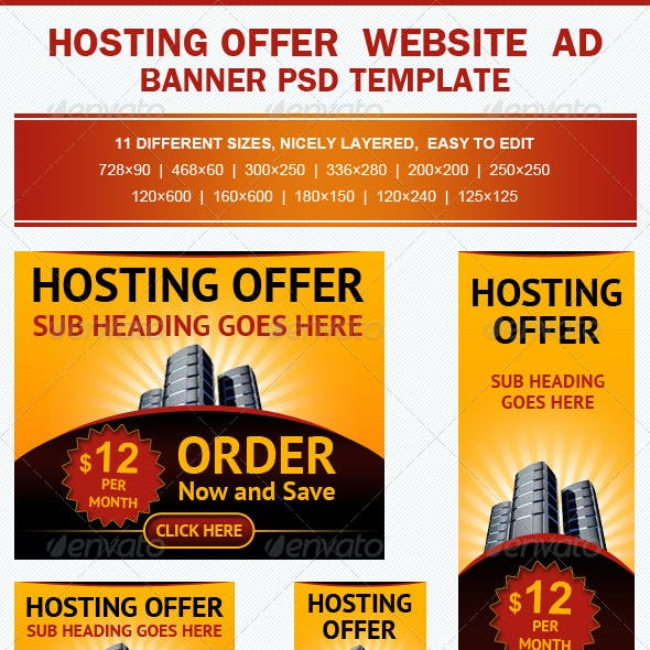 Hosting Offer Banner Ad Template
