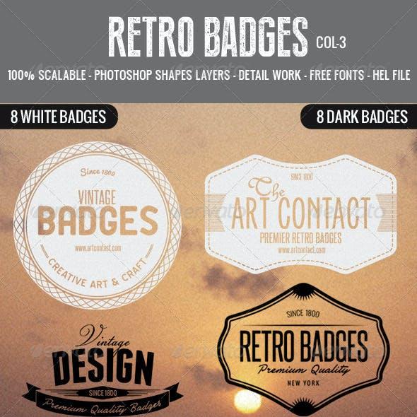 Retro Badges Col 3