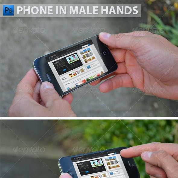 Black Phone in Male Hands