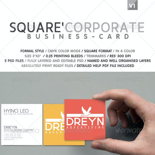 Square Corporate Business Card