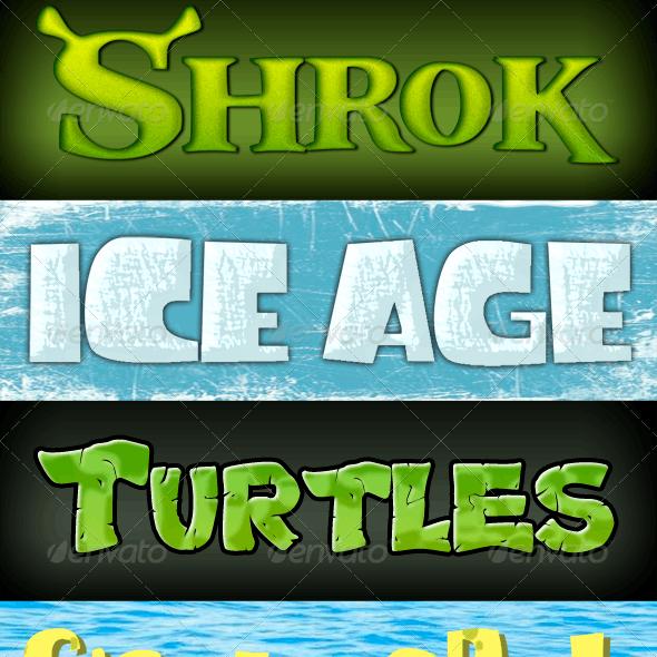 8 Cartoon Styles