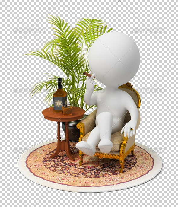 3d small people - luxury - Characters 3D Renders
