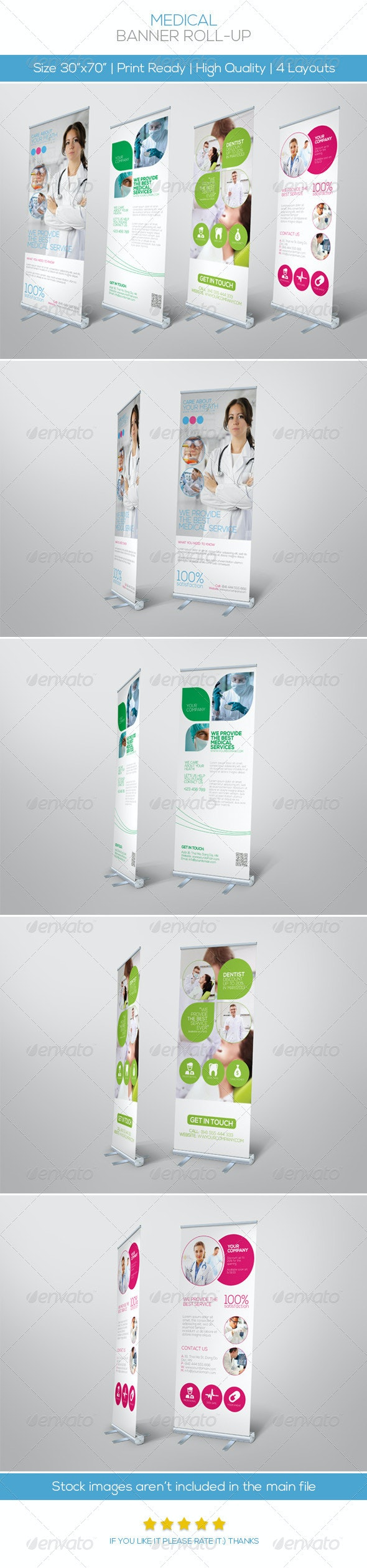 Premium Medical Roll-up Banner - Signage Print Templates