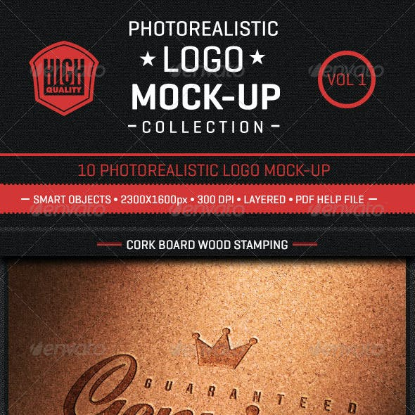 Photorealistic Logo Mock-Up Collection Vol1