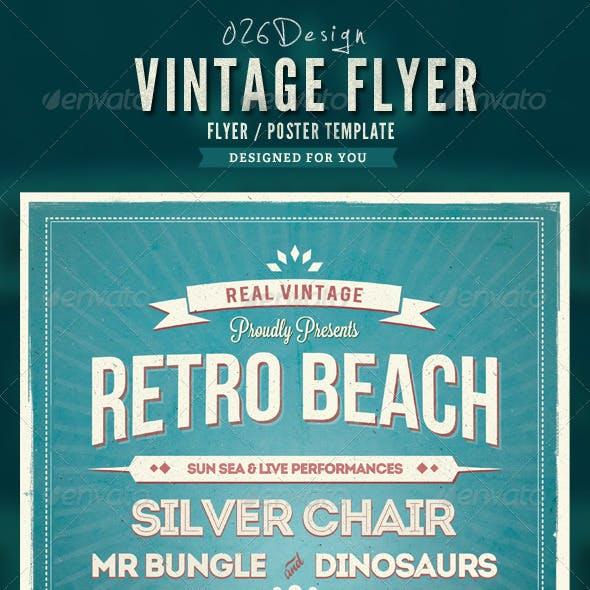 Retro Summer Beach Flyer/Poster