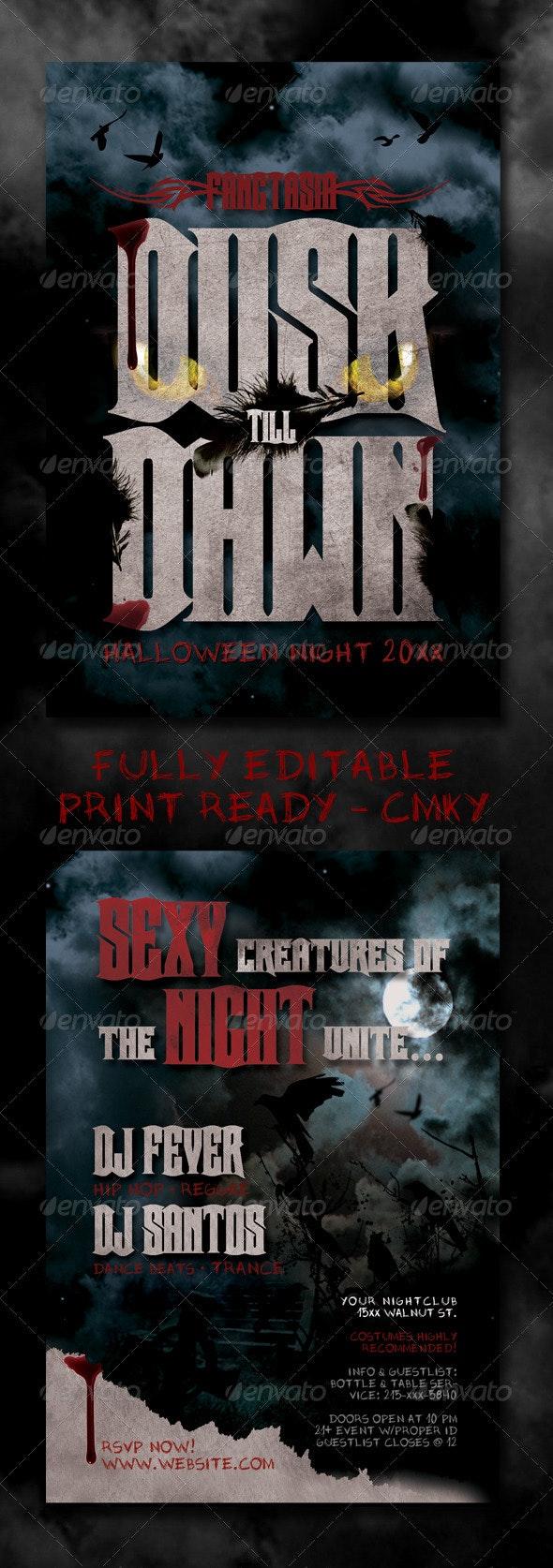 Horror Halloween Flyer - Clubs & Parties Events