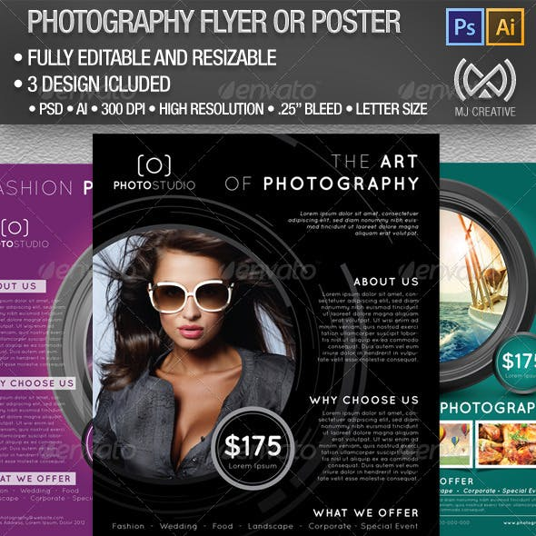 Photography Flyer and Poster Set