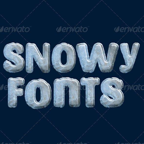 Snowy Fonts