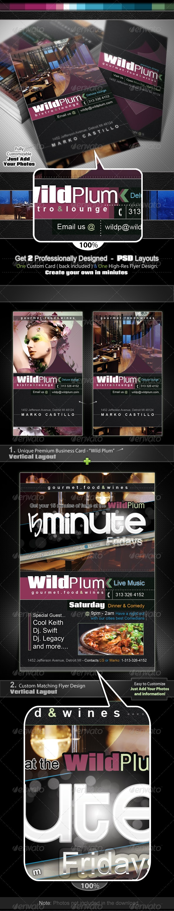 Wild Plum Business Card & Flyer - Identity Pack - Creative Business Cards