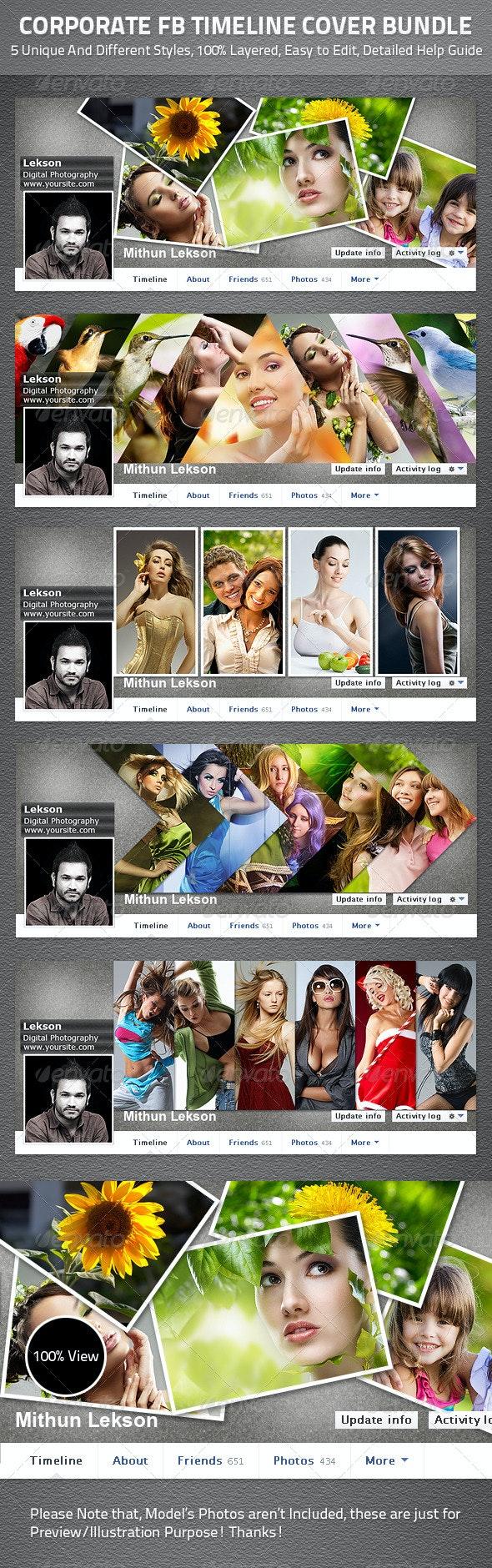 Corporate Facebook Timeline Cover Bundle - Facebook Timeline Covers Social Media