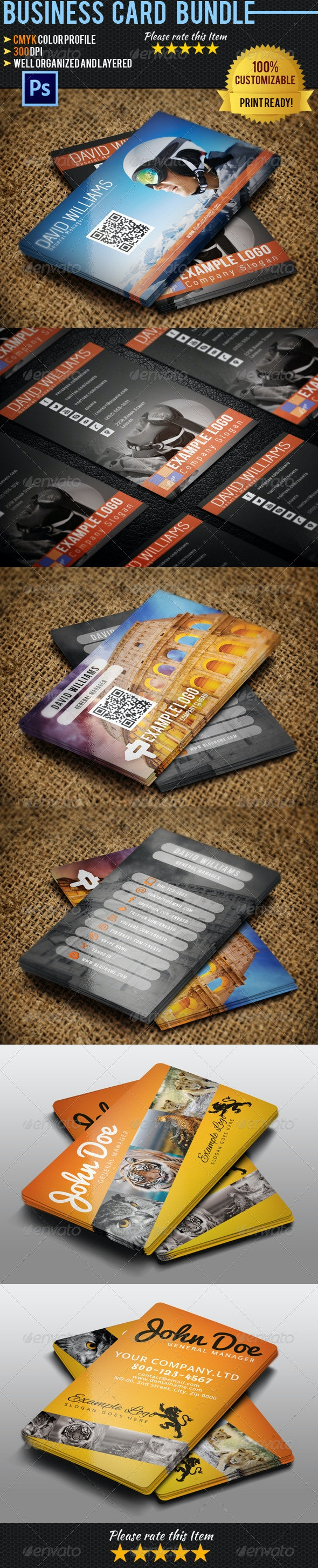 Travel Business Card Bundle - Industry Specific Business Cards