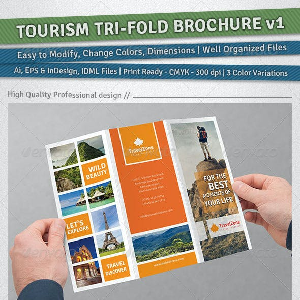 Tourism Tri-Fold Brochure | Volume 1