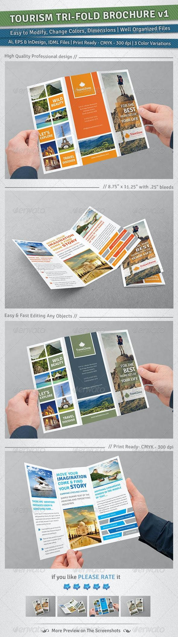 Tourism Tri-Fold Brochure | Volume 1 - Corporate Brochures