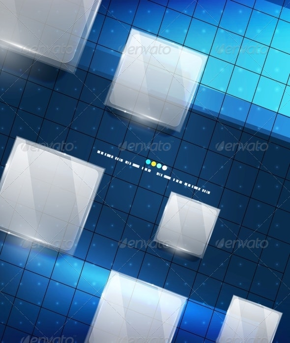 Blue Geometry Lines Background - Web Technology