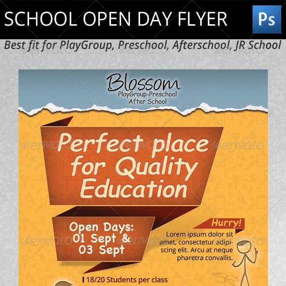 School Open Day Flyer