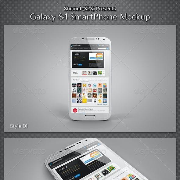 Galaxy S4 Smartphone Mockup