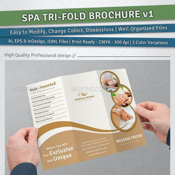 Spa Tri-Fold Brochure | Volume 1