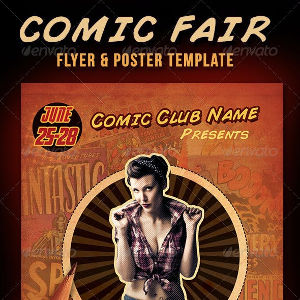 Comic Faire Poster & Flyer Template