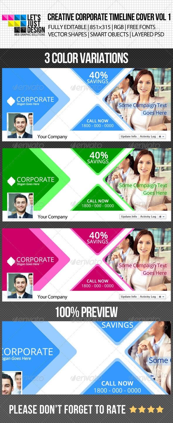 Creative Corporate Facebook Timeline Cover Vol 1 - Facebook Timeline Covers Social Media