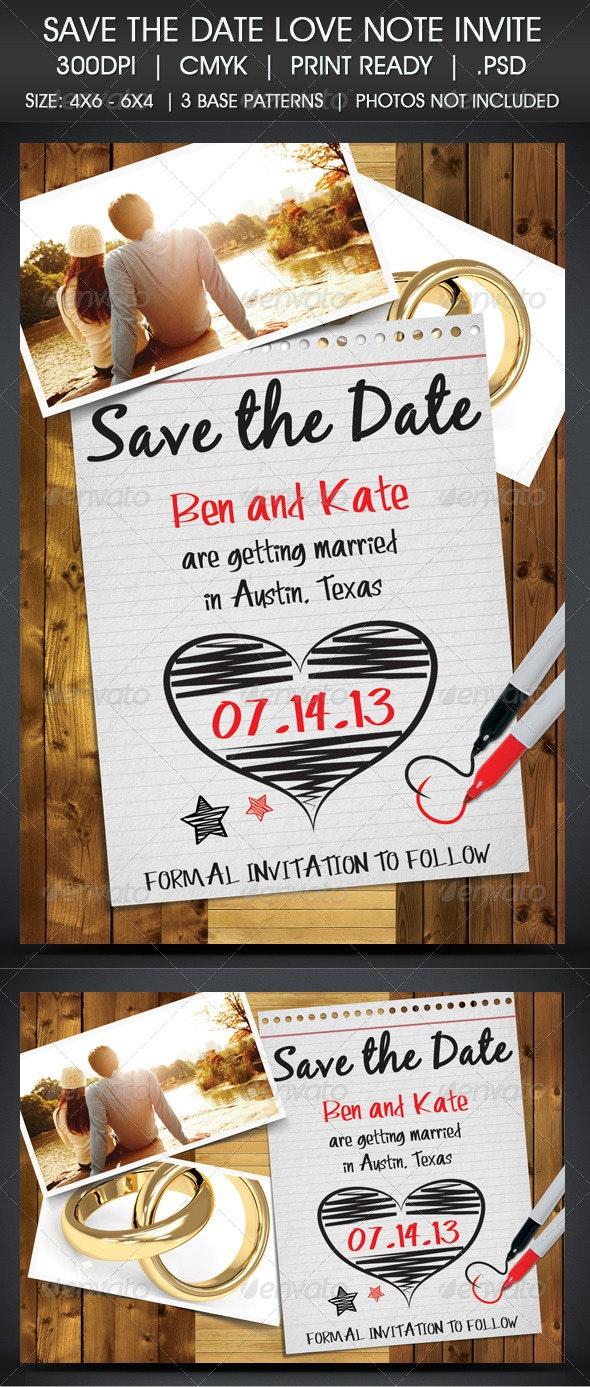 save the date note invitationvirallegacy  graphicriver