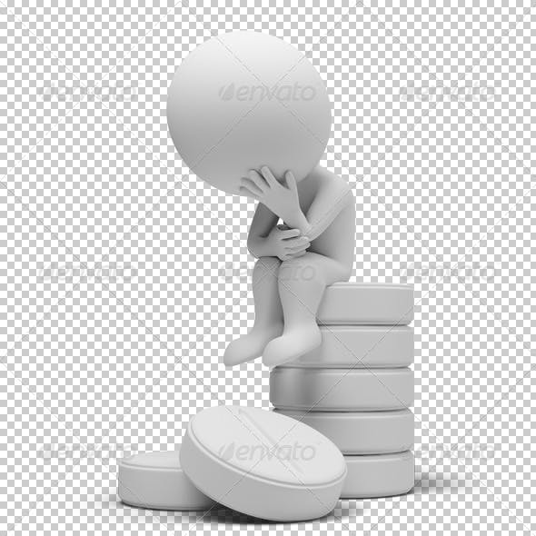 3d small people on tablets