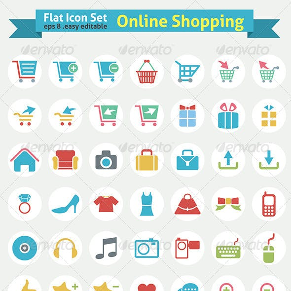 Flat Icon – Online Shopping Series