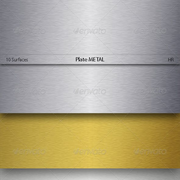 Plate Metal Texture Backgrounds