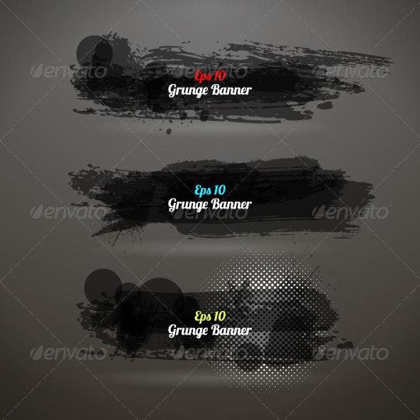 Grunge Transparency Banner - Backgrounds Decorative
