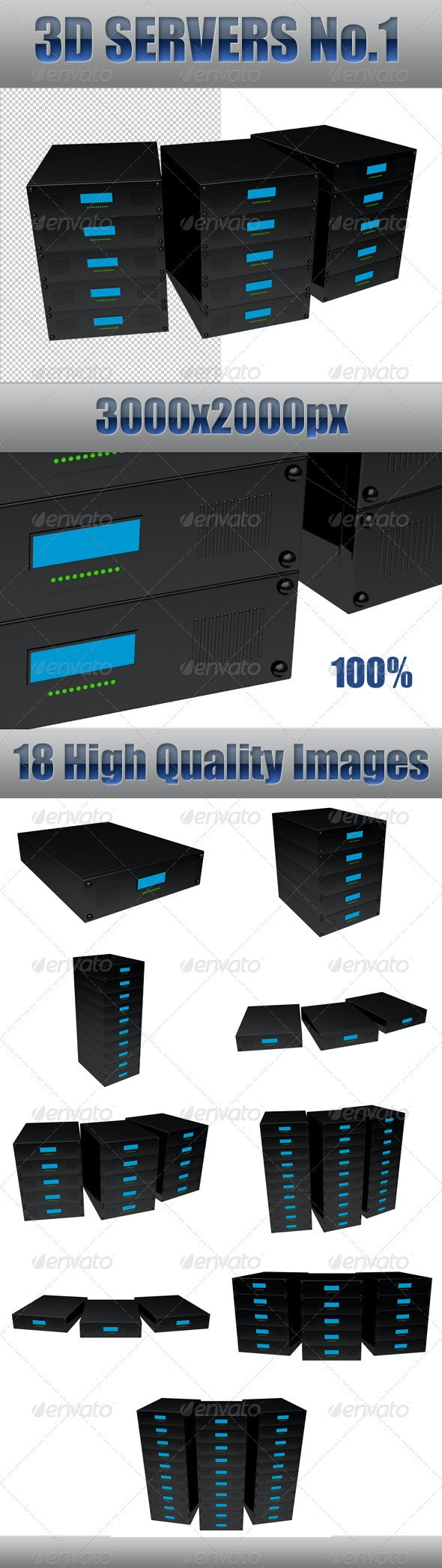 3D Servers No. 1 - 3D Renders Graphics