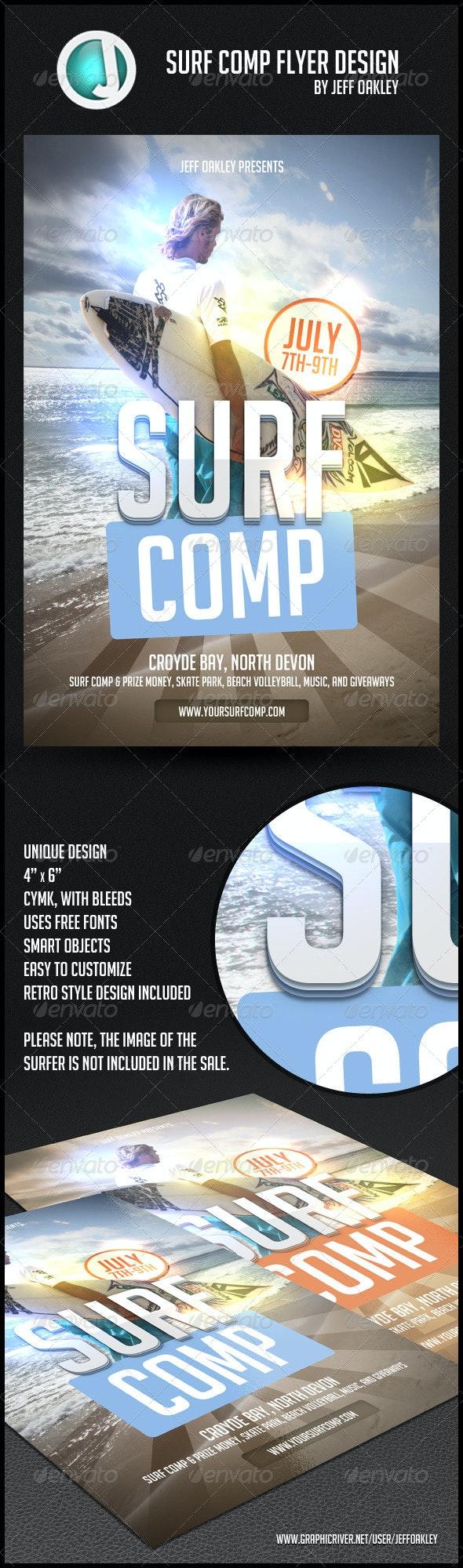 Surf Comp flyer Design - Clubs & Parties Events