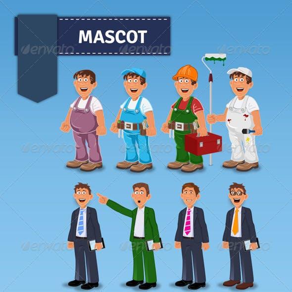Handyman Manager Mascot
