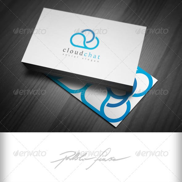 Cloud Chat - Cloud Network Logo - Meteorology Logo