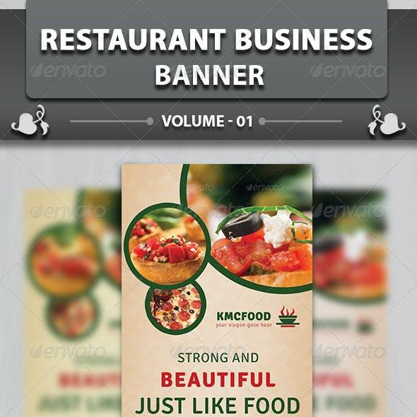 Restaurant Business Banner | Volume 14