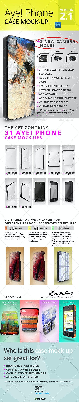 Aye! Phone 4/4S Case Mockup - Miscellaneous Product Mock-Ups