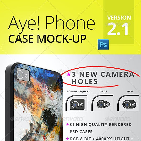 Aye! Phone 4/4S Case Mockup