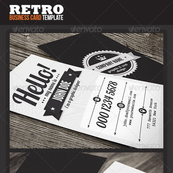 Clean Retro Business Card