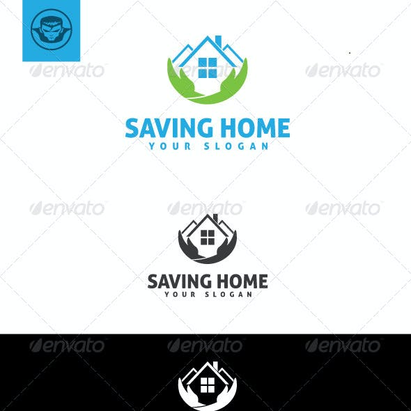 Saving Home Logo Template