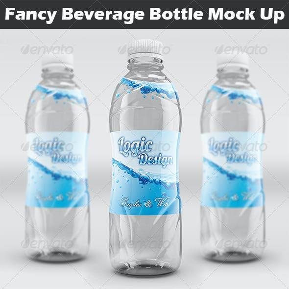 Fancy Beverage Bottle Mock Up