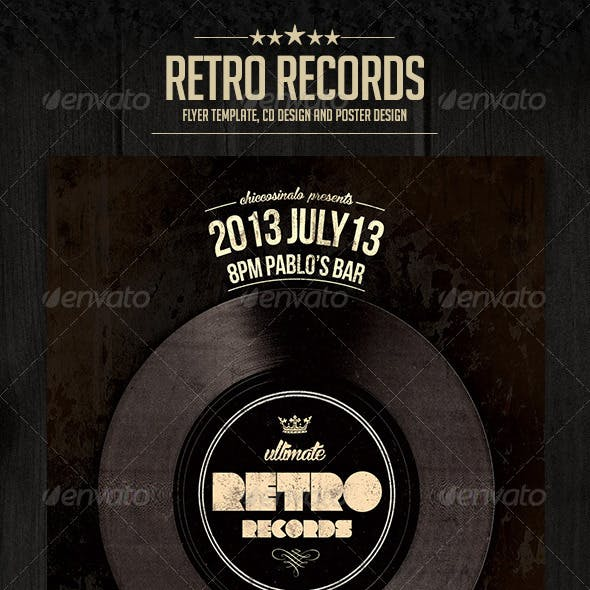 Retro Records Flyer Template