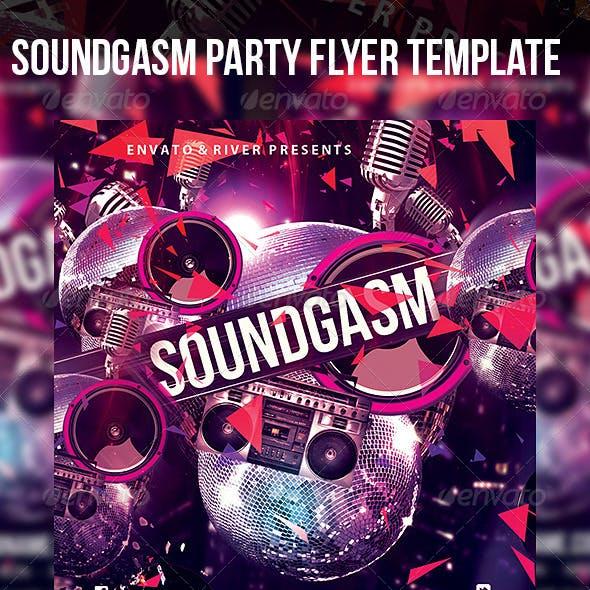 Soundgasm Party Flyer Template