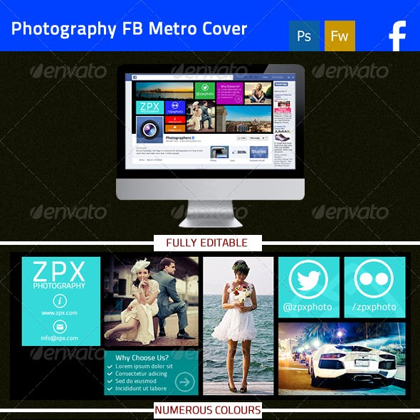 Photography Metro Style FB Cover