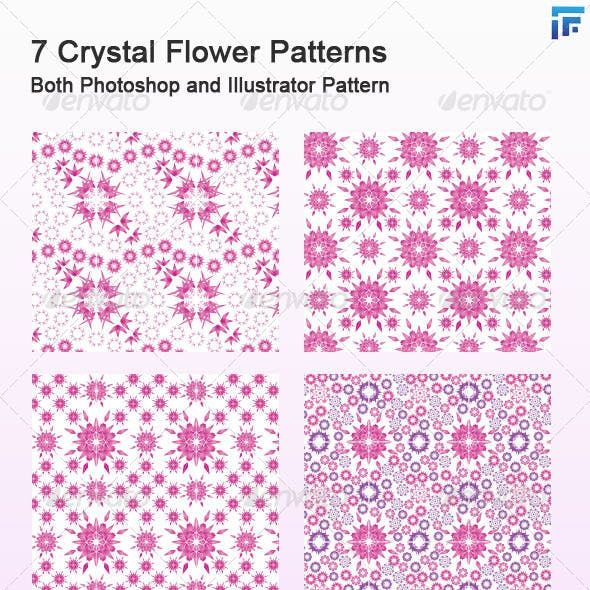 7 Crystal Flower Photoshop and Illustrator Pattern