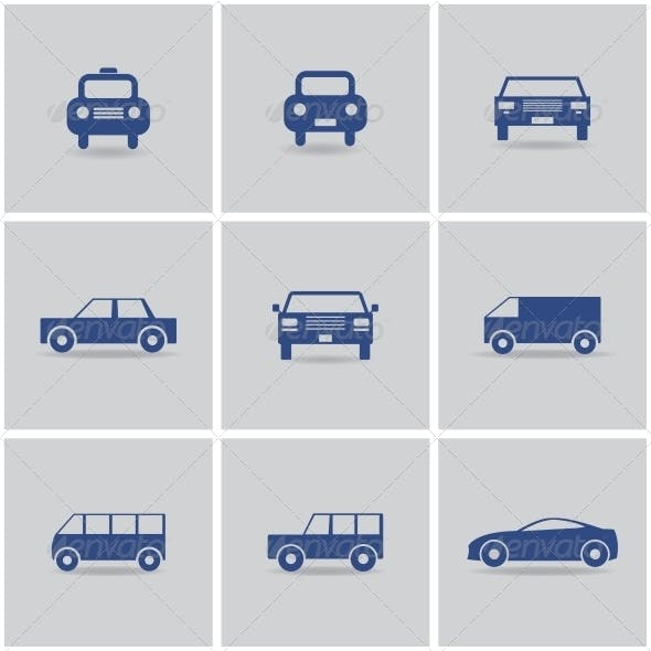 Set of Icon Cars